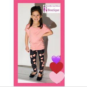 NEW Girls Heart Valentines Day Leggings